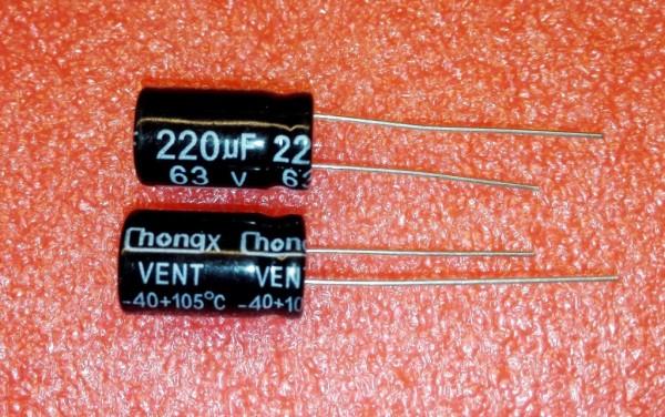 220 µF 63V
