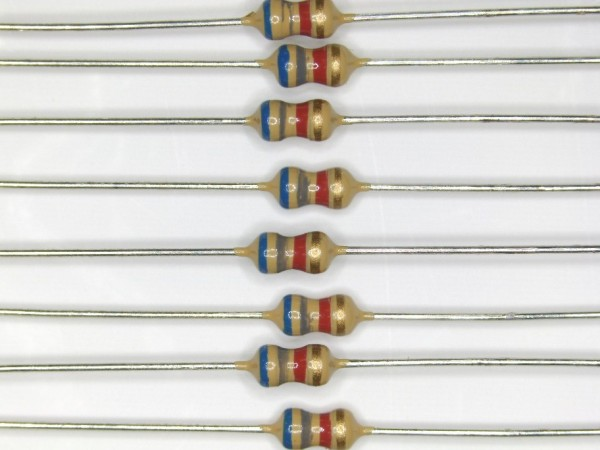 6,8 KOhm 1/6 Watt ±5% Carbon Film