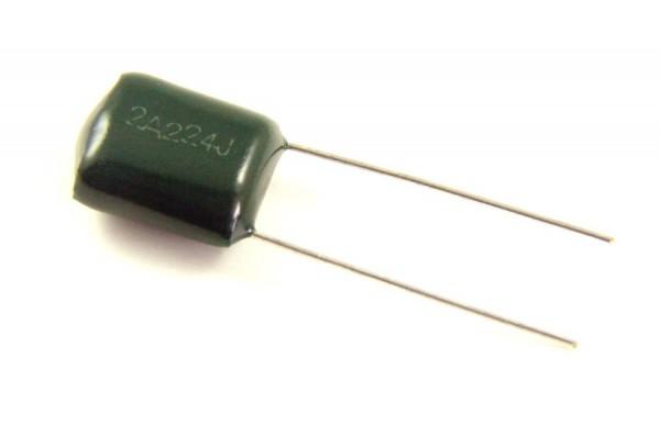 0,22µf 100V - 2A224J Polyester Folienkondensator