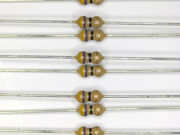 47 Ohm 1/6 Watt ±5% Carbon Film