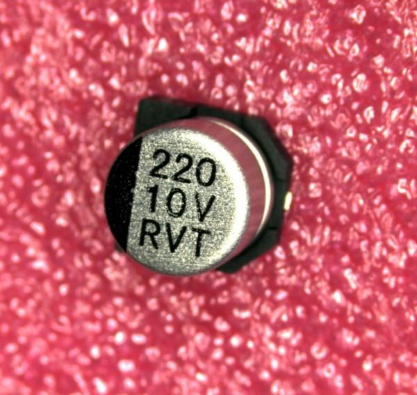 220µF 10V SMD Alu Elektrolit Kondensator