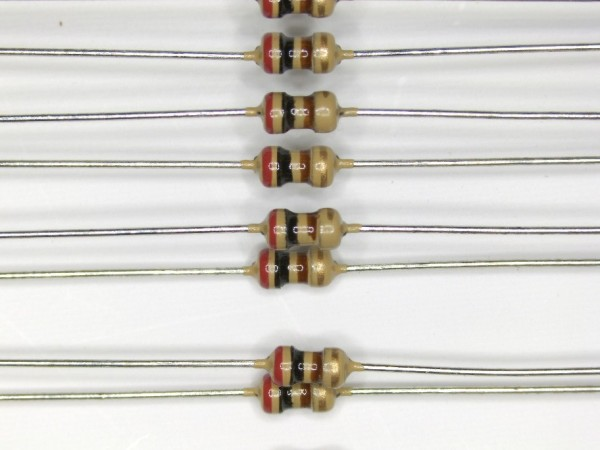 200 Ohm 1/6 Watt ±5% Carbon Film