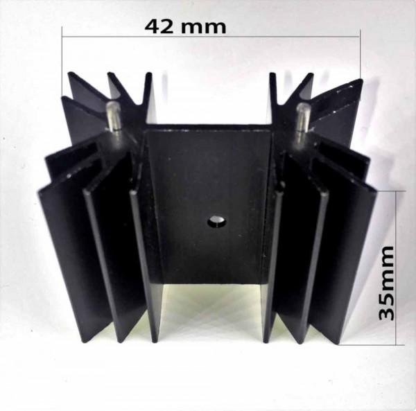 TO220 Kühlkörper schwarz