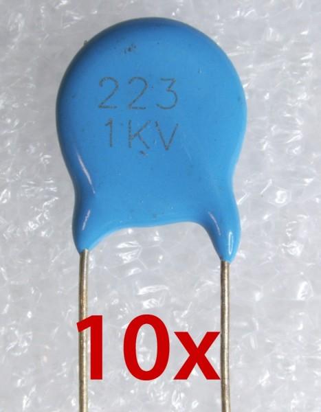 10x 22nf 1KV Hochspannung Keramik Scheibenkondensator