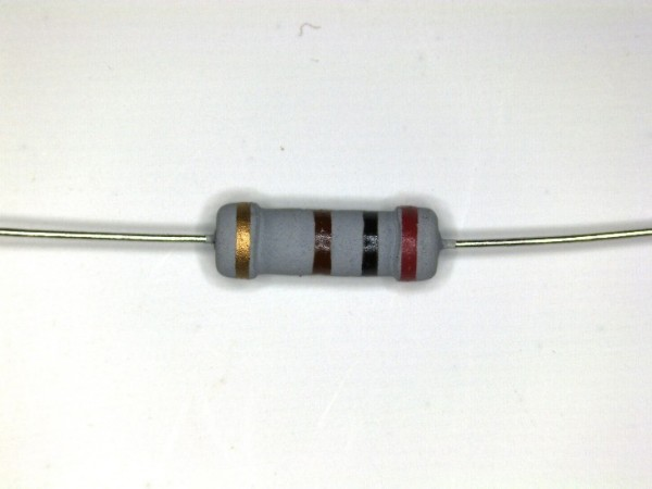 200 Ohm 1 Watt ±5% Carbon Film