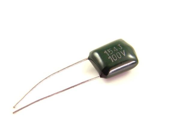 0,15µf 100V - 2A154J Polyester Folienkondensator