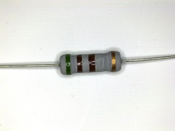510 Ohm 1 Watt ±5% Carbon Film