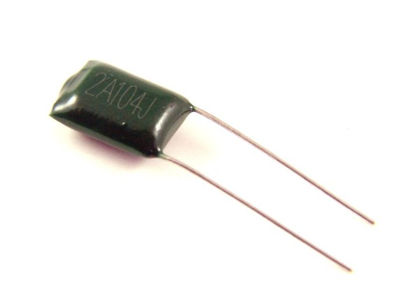 0,1µf 100V - 2A104J Polyester Folienkondensator