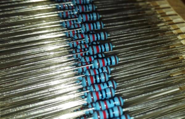 2,7 Ohm 1/4 Watt ±1% Metal Film