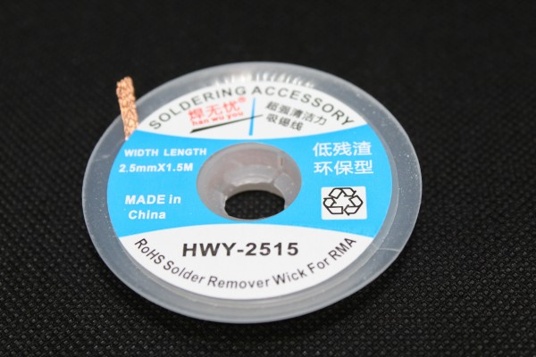 Entlöt-Litze 2,5mm 1,5m HWY-2515