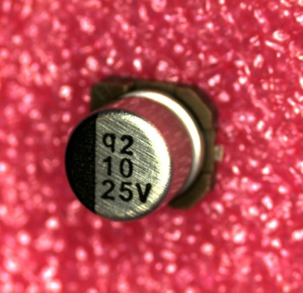 10µF 25V SMD Alu Elektrolit Kondensator