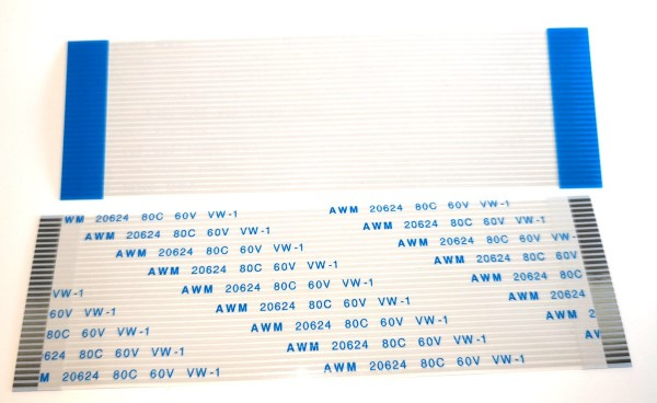 30 Pin 1mm/100mm Flexible Flat Cable AWM 20624 80C 60V VW-1