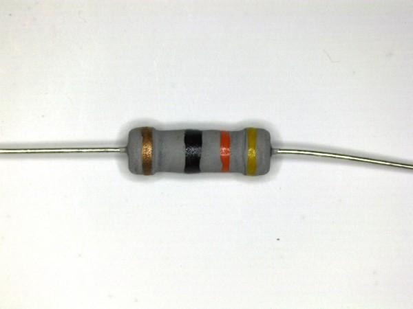 43 Ohm 1 Watt ±5% Carbon Film