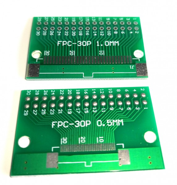 FPC/FFC 30P to DIP30 0.5mm / 1.0mm 2 Sides SMD PCB Adapter