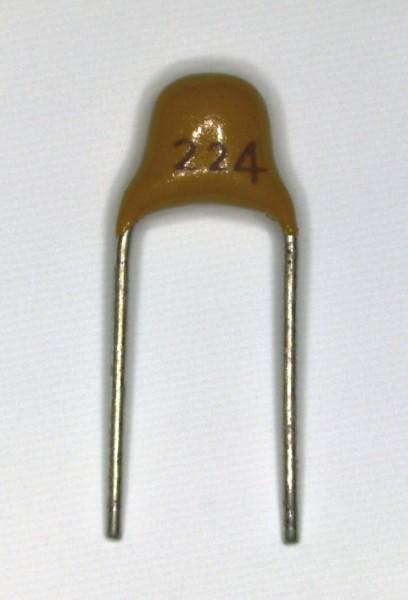 0,22µF 50V Keramik Multilayer Kondensator