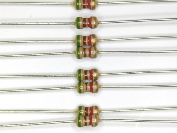 5,1 KOhm 1/6 Watt ±5% Carbon Film