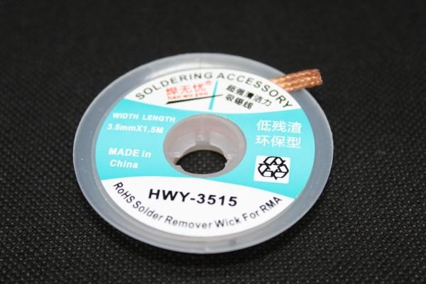 Entlöt-Litze 3,5mm 1,5m HWY-3515